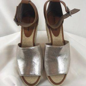 Donald Pliner Leather Wedge Espadrilles